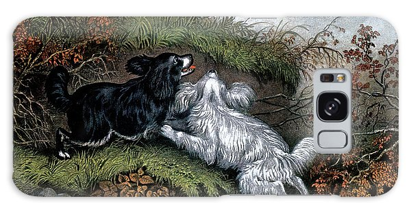 1860s Two Spaniel Dogs Flushing Galaxy Case