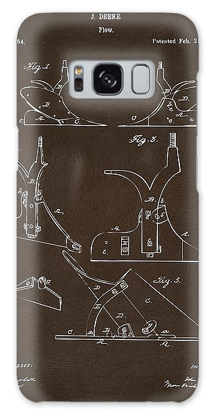 John Deere Galaxy Case - 1865 John Deere Plow Patent Espresso by Nikki Marie Smith