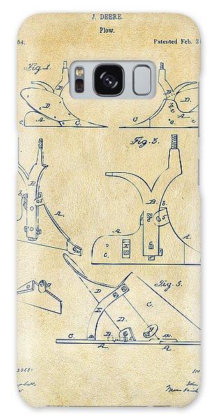 John Deere Galaxy Case - 1865 John Deere Plow Patent Vintage by Nikki Marie Smith