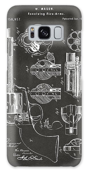 Den Galaxy Case - 1875 Colt Peacemaker Revolver Patent Artwork - Gray by Nikki Marie Smith