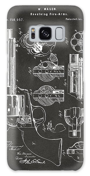 1875 Colt Peacemaker Revolver Patent Artwork - Gray Galaxy Case