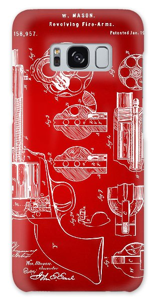 Weapons Galaxy Case - 1875 Colt Peacemaker Revolver Patent Red by Nikki Marie Smith