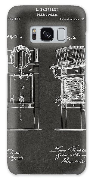 1876 Beer Keg Cooler Patent Artwork - Gray Galaxy Case