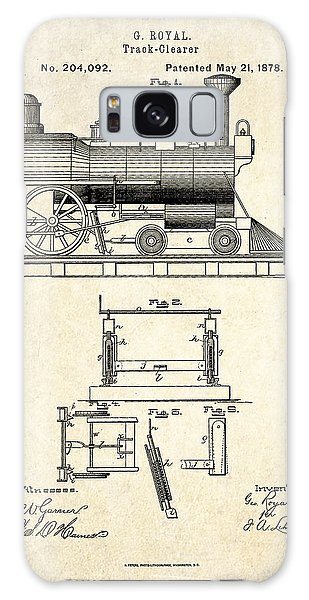 Trains Galaxy Case - 1878 Railroad Track Clearer Patent Art by Gary Bodnar