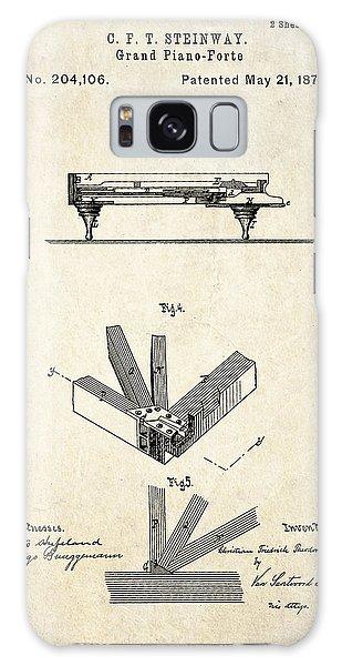 1878 Steinway Grand Piano Forte Patent Art S.2 Galaxy Case