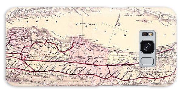 Trains Galaxy Case - 1882 Long Island Railroad Map by Jon Neidert