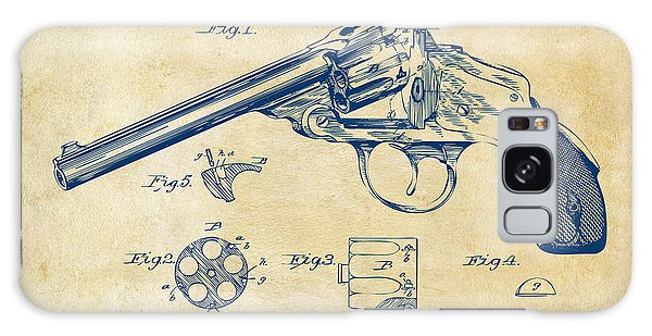Weapons Galaxy Case - 1889 Wesson Revolver Patent Minimal - Vintage by Nikki Marie Smith