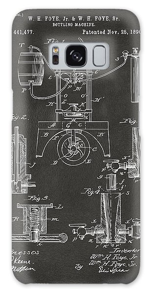 1890 Bottling Machine Patent Artwork Gray Galaxy Case