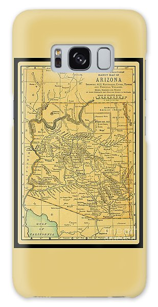 1891 Arizona Map Galaxy Case