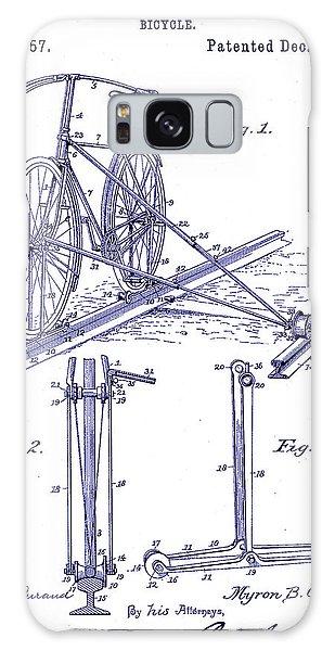 Blueprint Galaxy Case - 1891 Bicycle Patent Blueprint by Jon Neidert