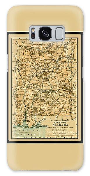1891 Map Of Alabama Galaxy Case
