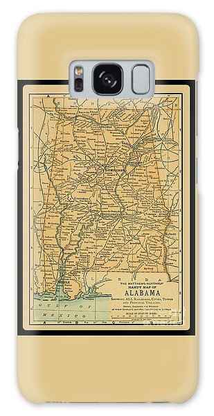 1891 Map Of Alabama Galaxy Case