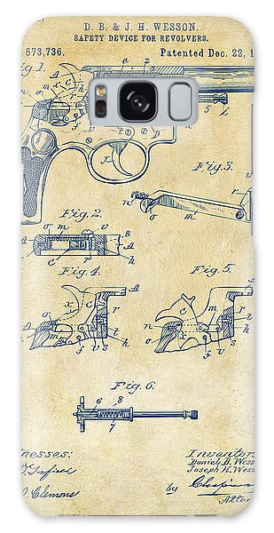 Weapons Galaxy Case - 1896 Wesson Safety Device Revolver Patent Artwork - Vintage by Nikki Marie Smith