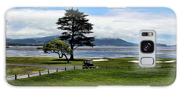 18th At Pebble Beach Panorama Galaxy Case