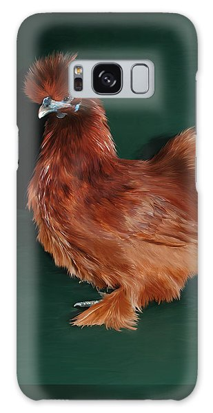 19. Red Silkie Hen Galaxy Case
