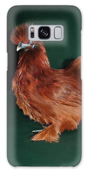 Galaxy Case - 19. Red Silkie Hen by Sigrid Van Dort