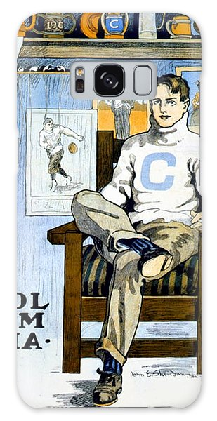 1902 - Columbia University Sports Poster - Color Galaxy Case
