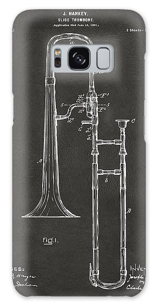 Trombone Galaxy S8 Case - 1902 Slide Trombone Patent Artwork - Gray by Nikki Marie Smith
