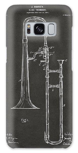 Trombone Galaxy Case - 1902 Slide Trombone Patent Artwork - Gray by Nikki Marie Smith