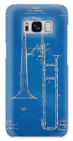 Trombone Galaxy S8 Case - 1902 Slide Trombone Patent Blueprint by Nikki Marie Smith