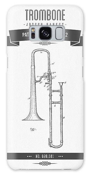 Trombone Galaxy Case - 1902 Trombone Patent Drawing by Aged Pixel