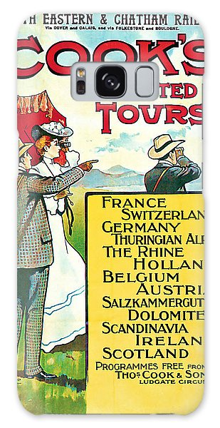 1904 Cooks Conduted Tours Vintage Travel Art Galaxy Case by Presented By American Classic Art
