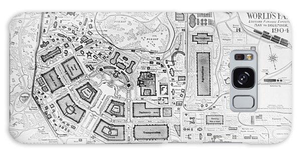 1904 Worlds Fair Fair Grounds Map Galaxy Case