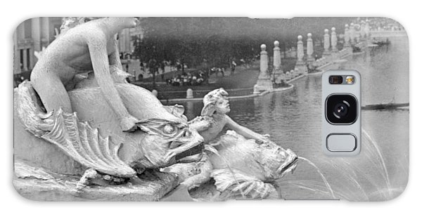 1904 World's Fair Fisheries Sculptures Vintage Photograph Galaxy Case