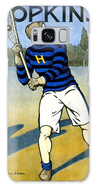 1905 - Johns Hopkins University Lacrosse Poster - Color Galaxy Case