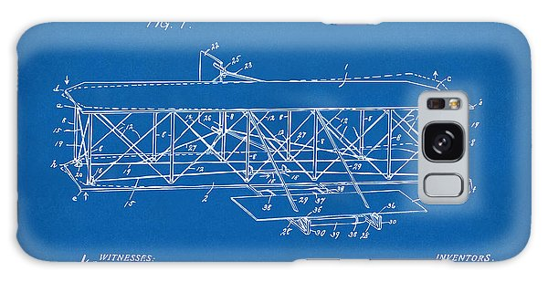 1906 Wright Brothers Flying Machine Patent Blueprint Galaxy Case