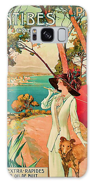 1910 Antibes Vintage Travel Art  Galaxy Case by Presented By American Classic Art