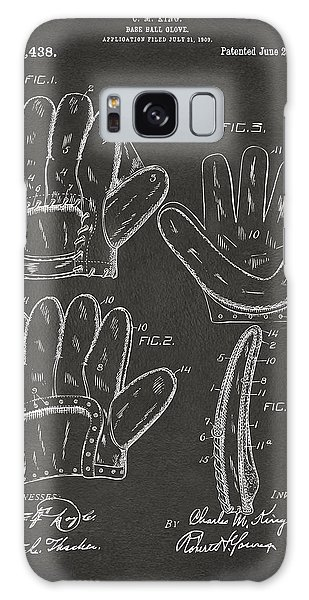 Baseball Players Galaxy S8 Case - 1910 Baseball Glove Patent Artwork - Gray by Nikki Marie Smith