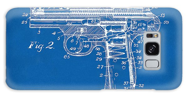 Weapons Galaxy Case - 1911 Automatic Firearm Patent Minimal - Blueprint by Nikki Marie Smith