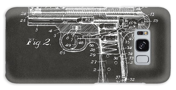 Weapons Galaxy Case - 1911 Automatic Firearm Patent Minimal - Gray by Nikki Marie Smith