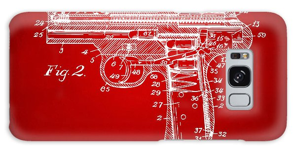 Weapons Galaxy Case - 1911 Automatic Firearm Patent Minimal - Red by Nikki Marie Smith