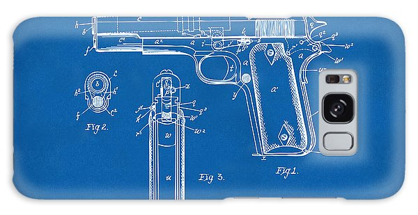 Weapons Galaxy Case - 1911 Colt 45 Browning Firearm Patent Artwork Blueprint by Nikki Marie Smith