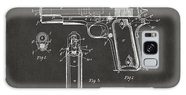 1911 Browning Firearm Patent Artwork - Gray Galaxy Case by Nikki Marie Smith