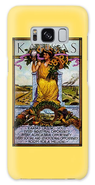 1911 Kansas Poster Galaxy Case