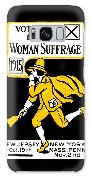 1915 Vote Yes On Woman's Suffrage Galaxy Case