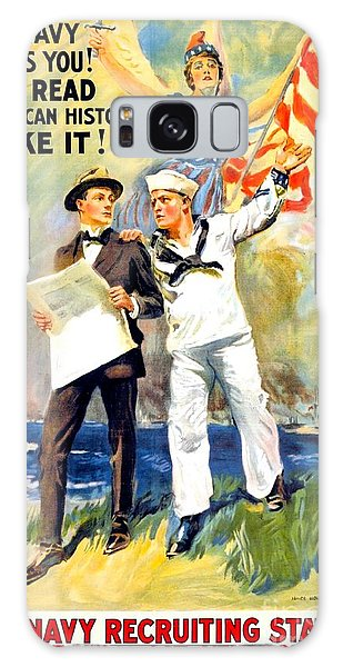 1917 - United States Navy Recruiting Poster - World War One - Color Galaxy Case