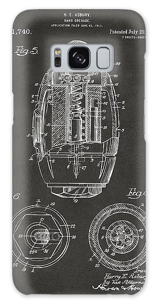 Weapons Galaxy Case - 1919 Hand Grenade Patent Artwork - Gray by Nikki Marie Smith
