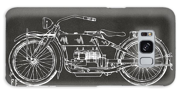 1919 Motorcycle Patent Artwork - Gray Galaxy Case