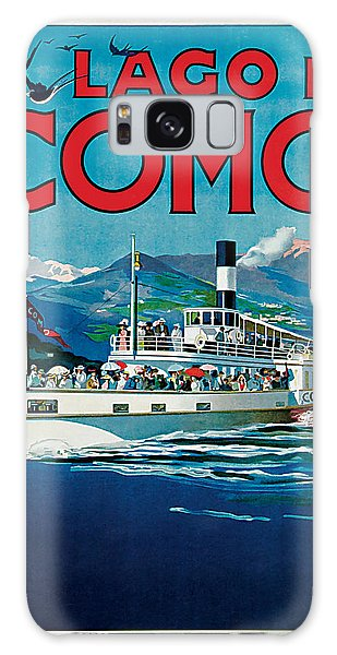 1920 Lago Di Como Vintage Travel Art  Galaxy Case by Presented By American Classic Art