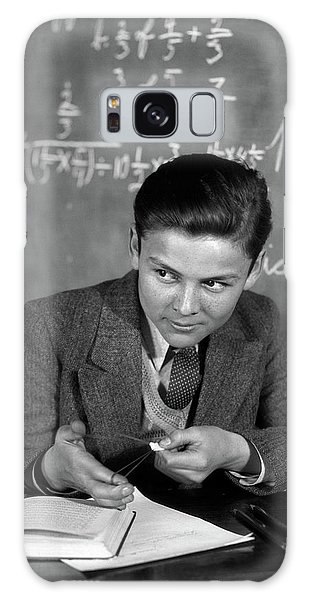 Sly Galaxy Case - 1920s 1930s Boy At Desk In Classroom by Vintage Images