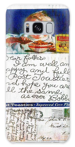 1921 Post Toasties Postcard Galaxy Case
