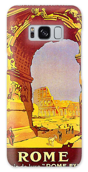 1921 Rome - Vintage Travel Art Galaxy Case by Presented By American Classic Art