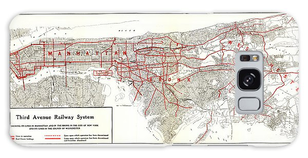 1922 Map Third Avenue Railway Galaxy Case