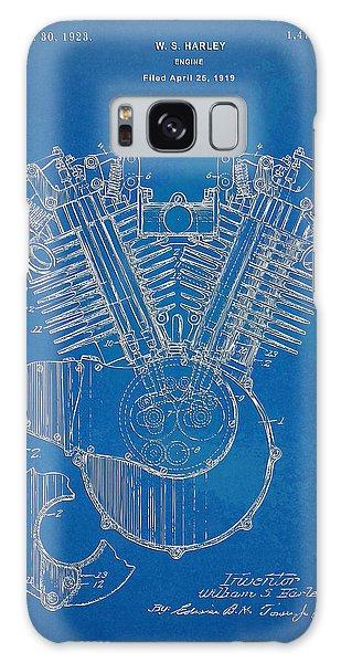 1923 Harley Davidson Engine Patent Artwork - Blueprint Galaxy Case