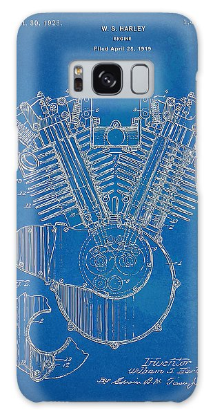 1923 Harley Davidson Engine Patent Artwork - Blueprint Galaxy Case