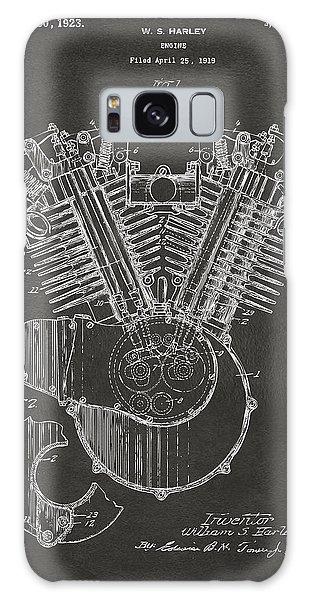 1923 Harley Engine Patent Art - Gray Galaxy Case